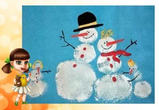 Нарисованный снеговик своими руками