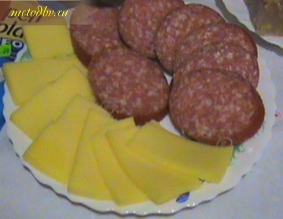 сыр и колбаска