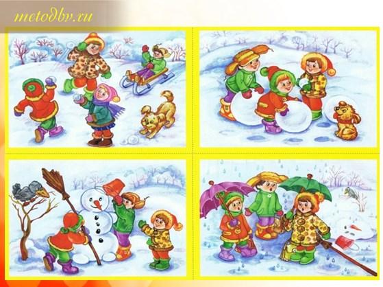 последовательные картинки зимние забавы
