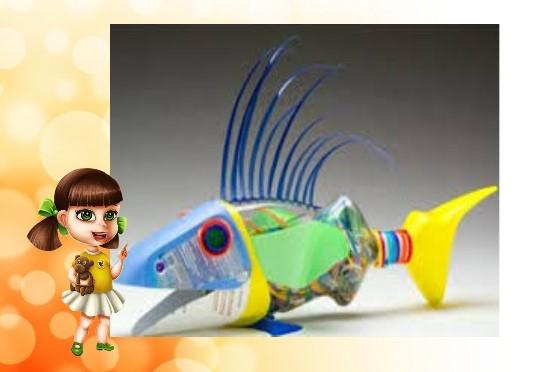 пластиковая рыбка