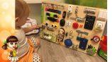 Бизиборд своими руками для мальчика — несколько идей