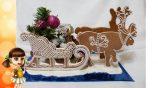 Новогодний декупаж: изготовление саней для Деда Мороза